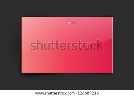 Vector glossy red paper card