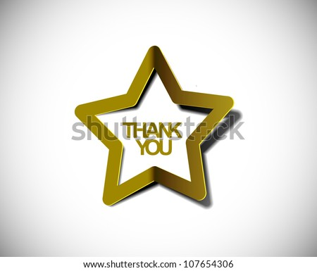 vector glossy star web golden icon design element. - stock vector
