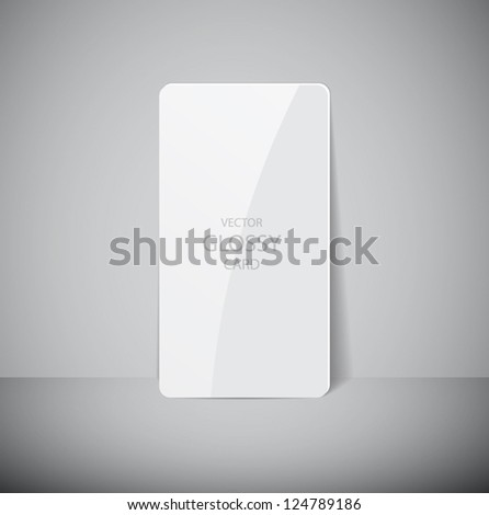 Vector glossy white card - stock vector