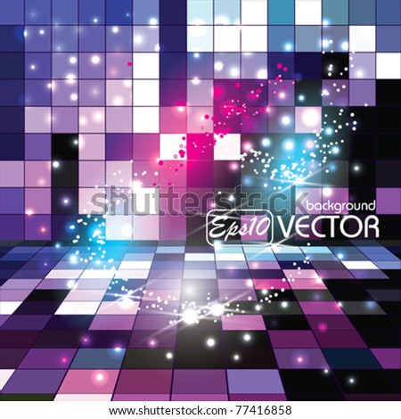 Vector Glowing Background Nice Sparkles - stock vector