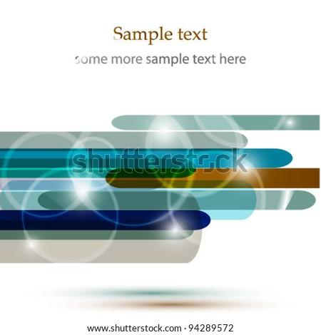 Vector glowing design - stock vector