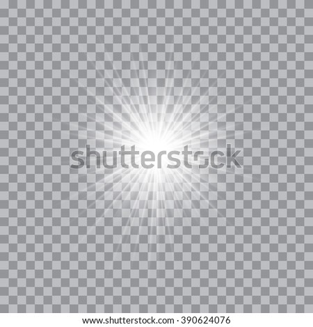 Vector glowing light bursts with sparkles on transparent background.  Vector illustration for your design and business - stock vector