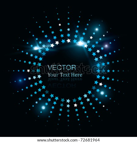 Vector Glowing Star - stock vector