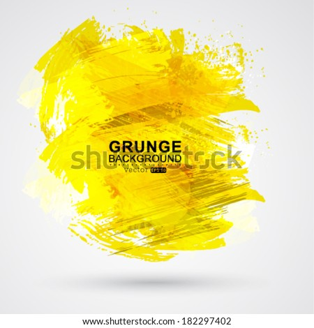Vector gold brush strokes and ink. Abstract vector design element. - stock vector