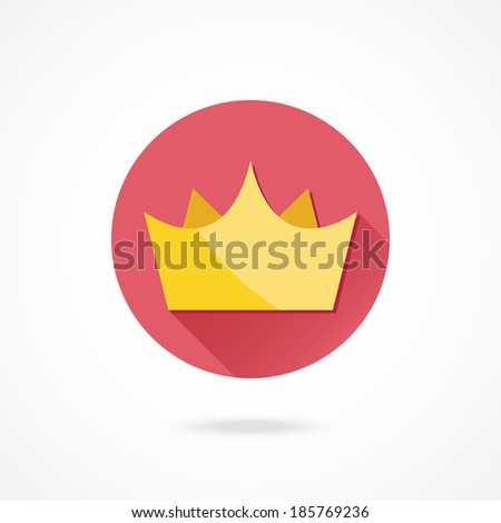 Vector Gold Crown - stock vector