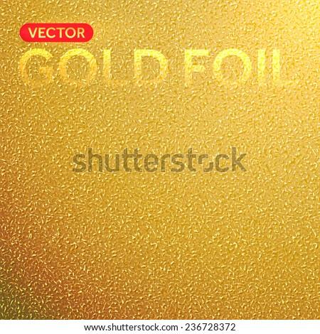 Vector gold foil background. Golden foil texture. - stock vector