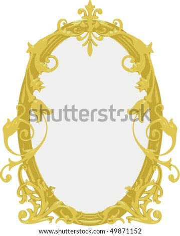 Vector gold frame - stock vector