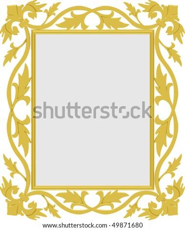 Vector gold frame - stock vector