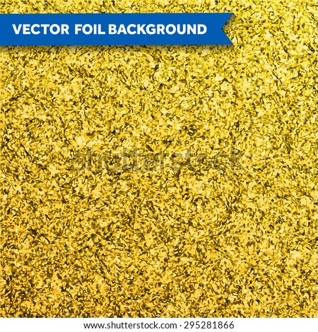 Vector gold glittering foil texture - stock vector