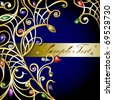 Vector gold jewelry background with gems (see jpg version in my portfolio) - stock photo