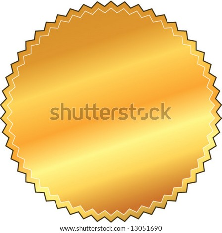 vector gold metallic seal - stock vector