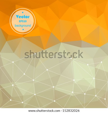 Vector gold modern geometric background. Abstract background for design - vector illustration EPS10. Retro colorful background. - stock vector