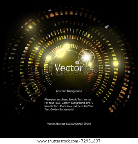 Vector Golden Abstract Background - stock vector