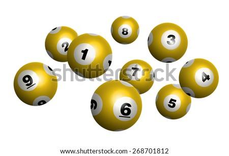Vector Golden Bingo / Lottery Number Balls - stock vector