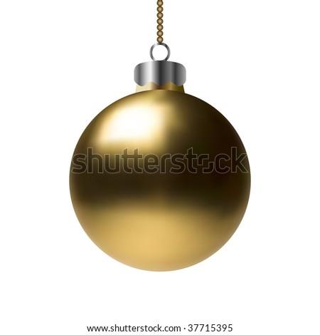 Vector Golden Christmas Bauble - stock vector