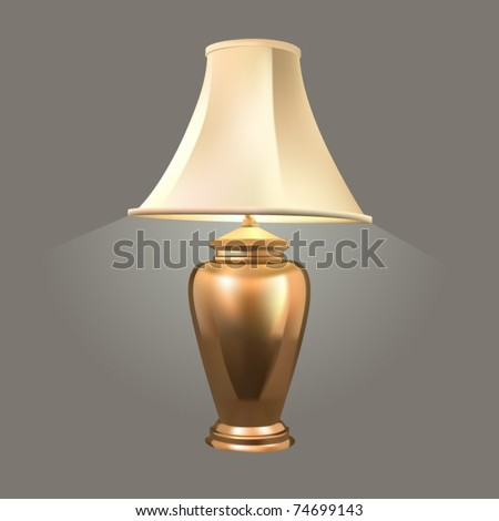 vector golden desk lamp