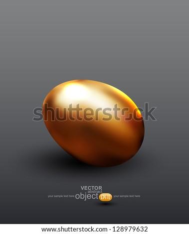vector golden egg - stock vector