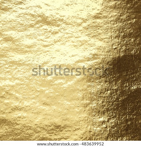 Vector golden foil background template for cards, hand drawn backdrop - invitations, posters, banners.