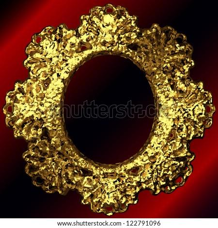 vector golden frames set - stock vector