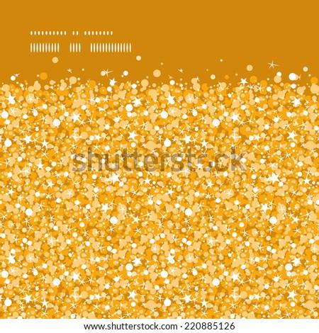 Vector golden shiny glitter texture horizontal frame seamless pattern background - stock vector