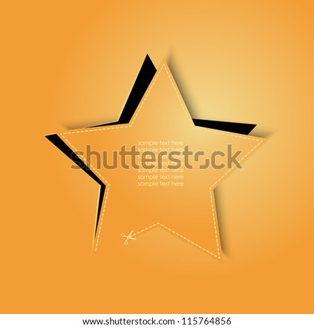 vector golden star - stock vector