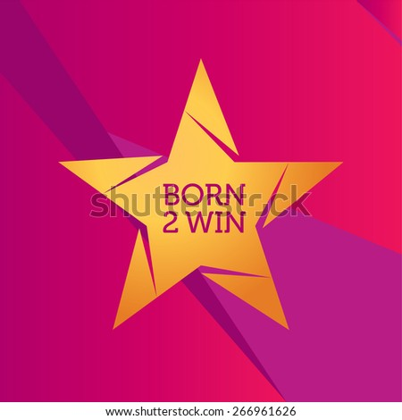 Vector Golden Star Logo - stock vector
