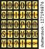vector golden with black scoreboard - stock vector