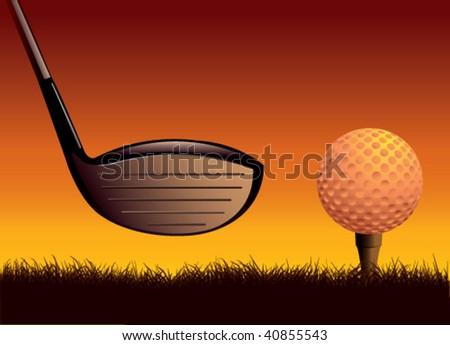 vector golf - stock vector