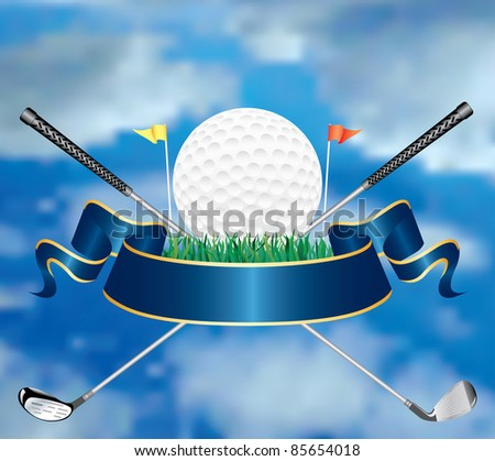 vector golf award in the sky - stock vector