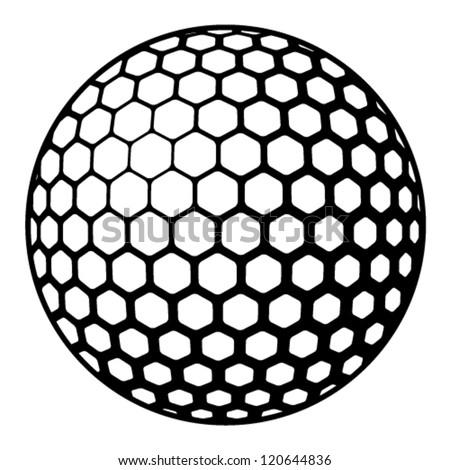 vector golf ball symbol - stock vector
