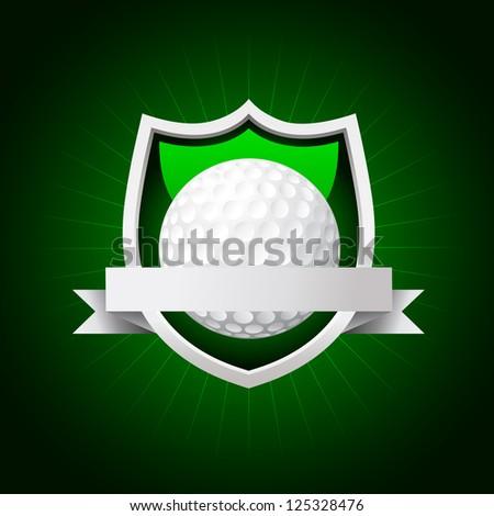 vector golf emblem. No transparency - stock vector
