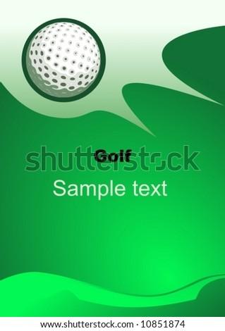 Vector Golf sport background  - stock vector