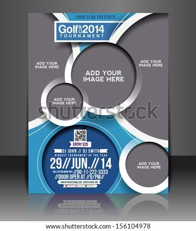 Vector Golf Tournament Flyer Poster Template Stock Vector Hd