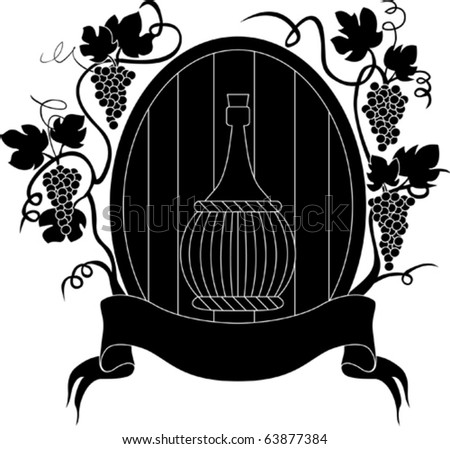 Vector grape and wine - stock vector