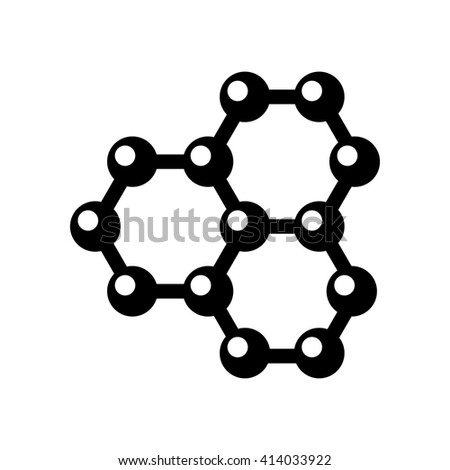 Vector graphene structure icon on white background - stock vector