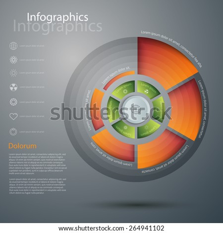 Vector graphic abstract 3d infographic design - stock vector