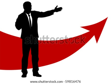 Vector graphic businessmen of concept success - stock vector