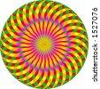 vector graphic depicting op art/pop art pattern background - stock photo