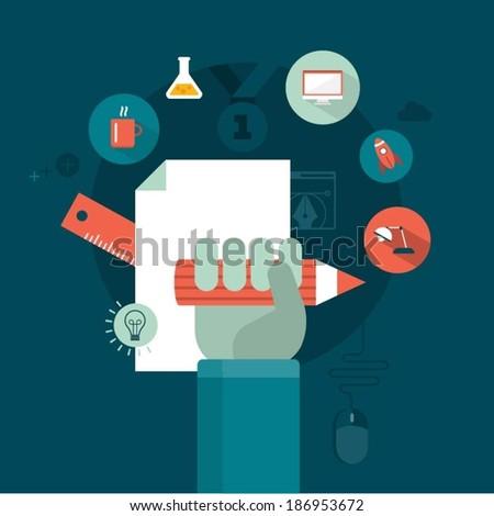 vector graphic design concept illustration - stock vector