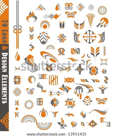 vector graphic  & design elements,70 pieces - stock vector