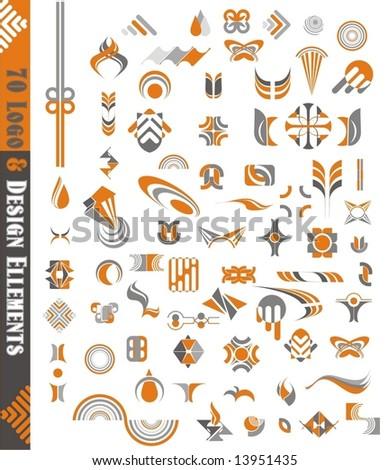 vector graphic  & design elements,70 pieces - stock vector