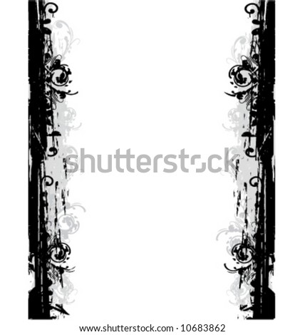 Vector graphic grunge border frame - stock vector