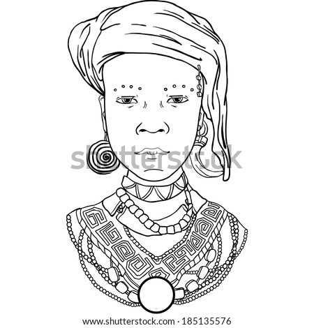 vector graphic illustration of the African girl. Suitable for book design invitations posters