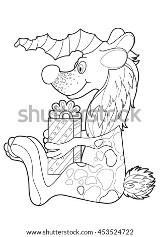 vector graphic images of kind fantastic creatures for coloring
