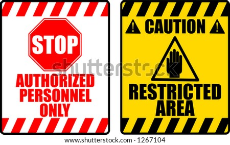 vector graphic of two warning signs