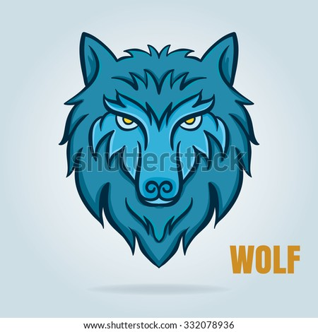 vector graphic of wolf,design for logo badge,decal,etc