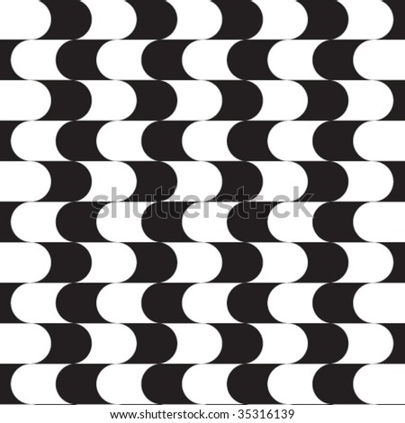 Vector graphical curves seamless background. - stock vector