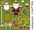 Vector graphics. Collection of items for scrapbooking. Merry Christmas! - stock vector