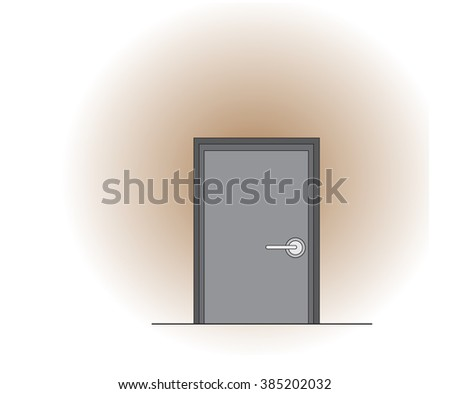 vector gray door on brown gradient background for use to make any concept