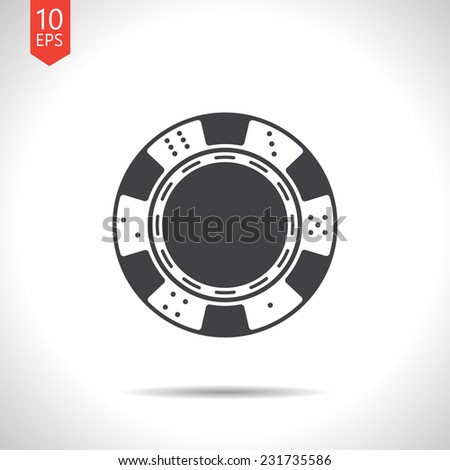 Vector gray flat isolate chip icon  isolated on white. Eps10 - stock vector
